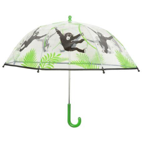 I KG168 gyerek esernyő, áttetsző, majmos