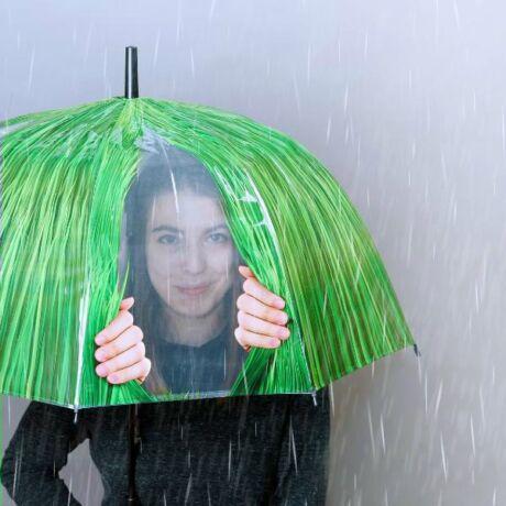 I TP318-F kukucskálós esernyő, fű mintával