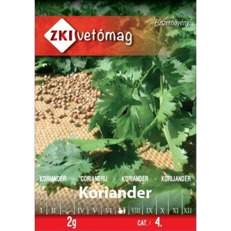Fűszernövény Koriander 2g